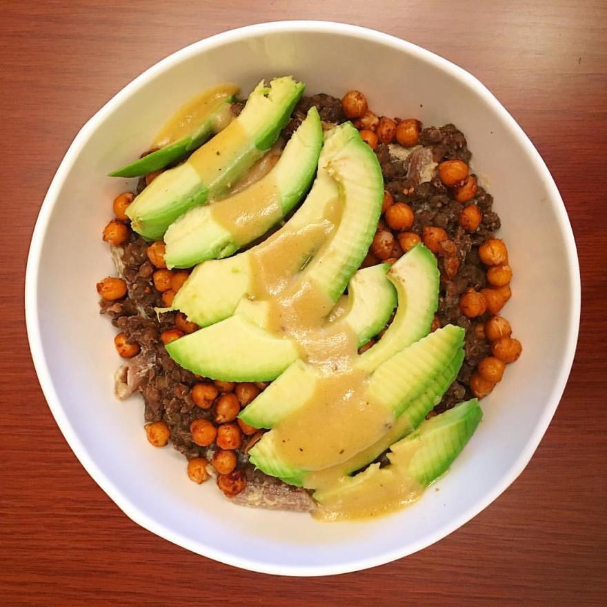 Layered Tahini Vegan Bowl